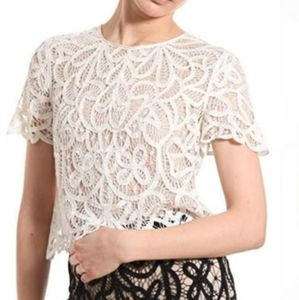 3.1 Phillip Lim Lace Cropped Top